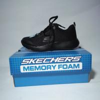 Original Skechers Dyna Lite Speedfleet Hitam Sneakers Anak Unisex