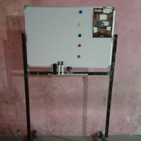 Whiteboard / Papan tulis keiko magnetic Double face stand uk 60x90 cm