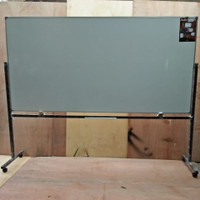 Whiteboard / Papan tulis keiko magnetic Single face stand uk 120x240cm