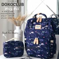 Tas Dokoclub Motif Import Diaper Bag Backpack Ransel Perlengkapan Bayi