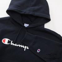 HOODIE CHAMPION ORIGINAL BLACK / HOODIE CHAMPION MURAH / SWEATER