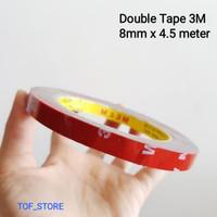 Double Tape 3M 8mm x 4.5 meter murah meriah