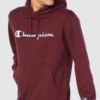 HOODIE CHAMPION ORIGINAL MAROON / HOODIE MURAH / SWEATER CHAMPION
