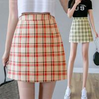 828 Mia Skirt/Korean Mini Skirt/Rok Pendek/Motif KotakKotak Gaya Korea