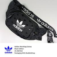 Tas Pinggang Adidas Kulit Black Import High Quality Waistbag Unisex