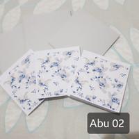Half Printed set kartu ucapan amplop kosong handmade segala event - Abu 02