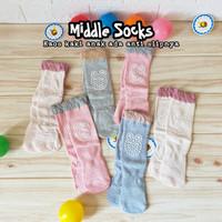 MIDDLE SOCKS ANTI SLIP kaos kaki bayi anti slip grosir murah import