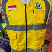 ROMPI KERJA PROYEK BAHAN DRILL+LOGO SAFETY FIRST & BENDERA MURAH