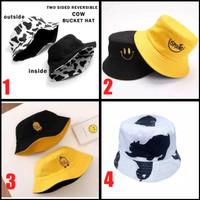 Topi Gunung Mancing Bucket Hat Premium Bolak Balik Unisex