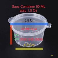Saos Container Impor 1.5 Oz atau 50 ML @50 Pcs Pengganti Suapi