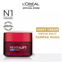 LOREAL REVITALIFT NIGHT CREAM / Krim Malam Anti Aging 50ml