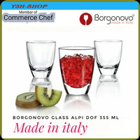 GELAS BORGONOVO Glass Alpi DOF 355 GELAS whisky water Made in italy