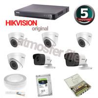 PAKET CCTV HIKVISION 6CH ULTRA HD HARDISK 1TB KOMPLIT
