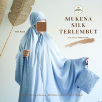 Mukena Silk Royale Premium - skyblue