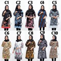 M-XXL / Baju Atasan Kerja Wanita / Seragam kuliah / Tunik batik Modern