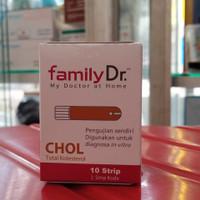 FamilyDr Strip Kolesterol 1 box isi 10