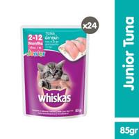 pouch whiskas junior 85g - whiskas sachet junior tuna (24 pcs)