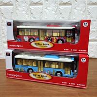 Diecast Bus Transportasi Kota Luxury Bus Bahan Metal