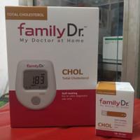 FamilyDr Kolesterol alat tes kolestetol+strip 1 box isi 10