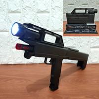 Folding Gun Mainan Tembakan 2in1 bisa jadi Senter
