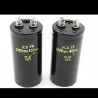 Elco Kapasitor Hitachi HCG 2200uf 2200 uf 2200MDF 450VDC 450v 450 volt