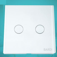 BARDI Smart Light Switch Touch Wall Switch Saklar Lampu Wifi EU 2 Gang