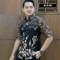 Kemeja Batik Lengan Pendek Lapis Puring 2