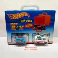 Hot Wheels Twin Pack 2 Carry Case tempat simpan koper mobil hotwheels
