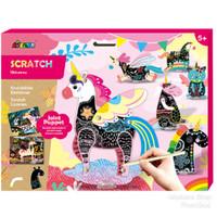 AVENIR 2in1 Scratch and Make Joint Puppet Boneka Wayang - Unicorn