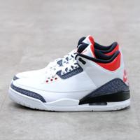 Nike Air Jordan 3 Retro Denim Fire Red 100% Authentic - 41