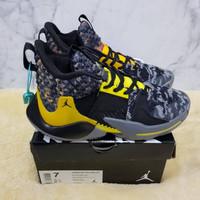 Sepatu Nike Air Jordan Why Not Zero 2 Wolf Grey Orange Premium Quality