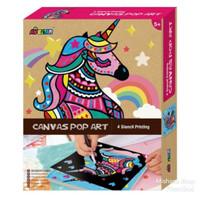 AVENIR Melukis Canvas Pop Art - Unicorn Mainan Kreatif Anak