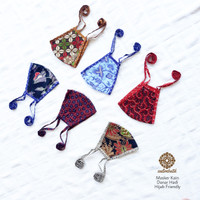 Masker Kain Model Tali untuk Hijab Non Medis Batik Danar Hadi Solo