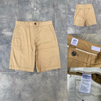 Celana GAP Slim Cotton Stretch Chino Shorts Brown Original Pendek