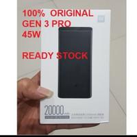 Xiaomi Power Bank Mi 3 Pro 20000mAh 45watt Type C Original
