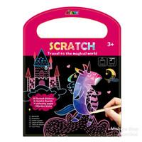 AVENIR Scratch Travel to Magical Mainan Kerajinan Gambar Tangan Anak