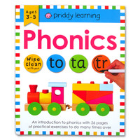 Priddy Learning Phonics Wipe Clean Activities Book With Pen