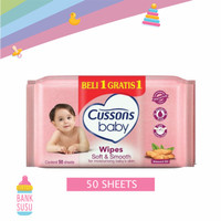 Cusson Baby Wipes Soft & Smooth 50S (BUY 1 GET 1)