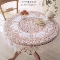 Knitting Tablecloth 0011 Taplak meja Rajut Handmade