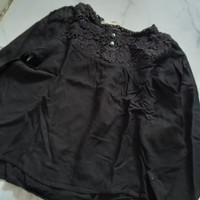 Hnm blouse anak hitam original second