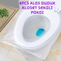 6pcs Alas Duduk Kloset Plastik Travel Disposable Toilet Seat Cover