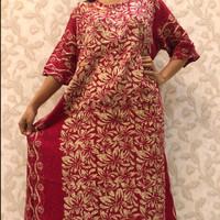 Daster Batik Pekalongan/ Baju Tidur Wanita/ Merah
