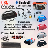 BoomBox JBL Speaker Wireless Portable Powerfull Sound Stereo Quality