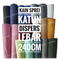 Kain Sprei Katun Dispers Polos Lebar 240cm