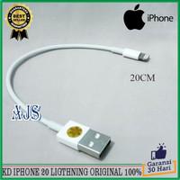 Kabel Data Power Bank iPhone 5 5s 5c 6 6 Plus 6s 6s Plus 20CM ORIGINAL