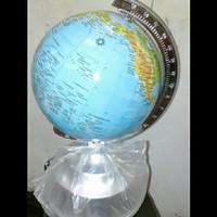 alat peraga peta dunia bola dunia globe diameter 13cm tatakan celengan
