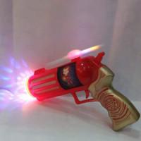 Mainan Pistol Baling baling Kipas Suara Lampu