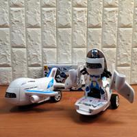 Mainan Pesawat Airbus Jadi robot Bump And Go