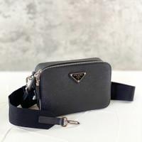 Prada saffiano camera bag leather unisex