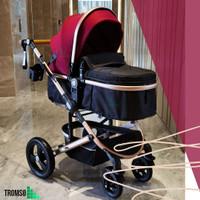 Tromso ~ Luxury Baby Stroller / Kereta Bayi - Wine Red